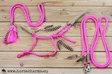 SET - Indianenstijl touwhalster, teugels & neckrope_