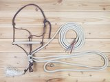 SET - Natural hackamore - Touwhalster, teugels & leadrope in 1_