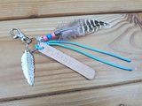 Sleutelhanger 'Leather Label Feather'_